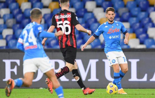 Napoli-Milan (Twitter ufficiale Napoli)