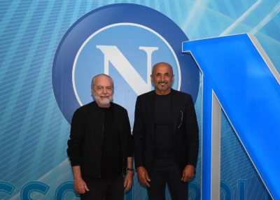 Aurelio De Laurentiis Luciano Spalletti (ph.Twitter ufficiale SSC Napoli)
